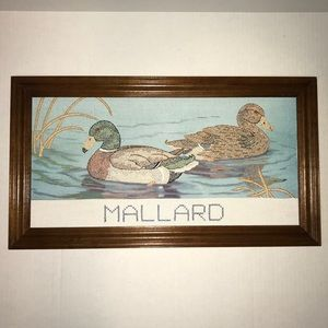 Other - Mallard Duck Handmade Cross Stitched Picture